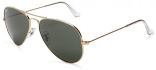 Ray-Ban 3025 Aviator, with gold (arista) frame and gray lenses