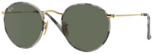 Ray-Ban RB3447JM 171 Camouflage Grey/White round sunglasses