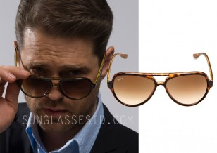 Compare the glasses and notice the details on the hinge and color effect of the tortoise frame