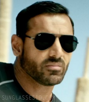 John Abraham wears black Ray-Ban RB4180 Liteforce sunglasses in Dishoom