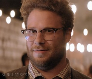 Seth Rogen wears Ray-Ban RB5154 Clubmaster eyeglasses in The Interview