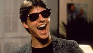 Tom Cruise wearing Ray-Ban Wayfarer sunglasses in Risky Business