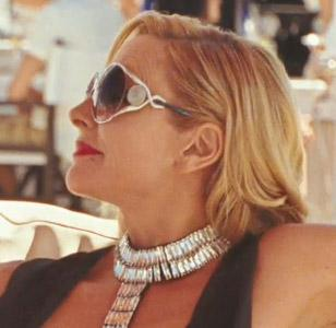 The Roberto Cavalli Corniola sunglasses in Sex And The City 2 seem to have a cus
