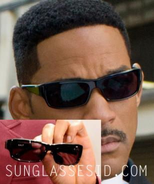 Will Smith in MIB3 and holding up a pair of SALT sunglasses at a promotional eve