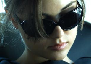 Sasha Grey wearing sunglasses in the movie The Girlfriend Experience