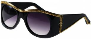 Selima Optique Onassis, Black with Gold Chain
