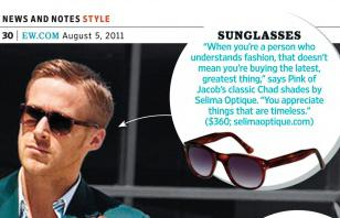 Excerpt of an Entertainment Weekly article about Ryan Gosling's outfit in Crazy