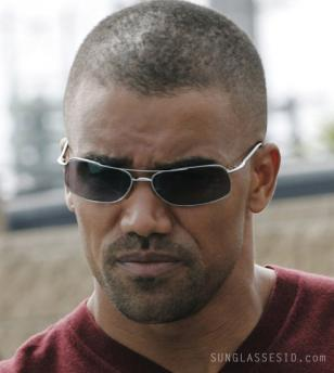 Shemar Moore wearing sunglasses in Criminal Minds