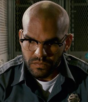 Amaury Nolasco wearing Shuron Ronsir Zyl glasses in the movie Armored