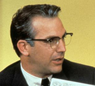 Kevin Costner wearing Shuron Ronsir Zyl glasses in the movie JFK