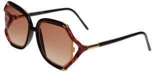 Vintage Ted Lapidus TL10 tortoise gold sunglasses