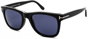 Tom Ford Leo FT0336, black frame, blue lenses