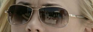 Close up of Yvonne Strahovski's sunglasses. Click on the image for an enlargemen