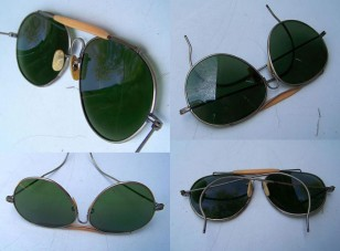 Vintage aviator sunglasses, similar to the ones worn by Samuel L Jackson in Kong: Skull Island