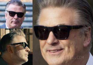Alec Baldwin is wearing a pair of black sunglasses in Blind.