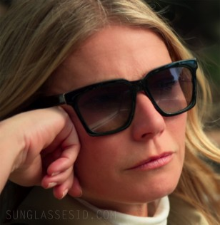 The black sunglasses worn by Gwyneth Paltrow in the new Netflix series The Politician are not yet identified.