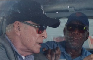 Michael Caine wears black BluBlocker sunglasses in the comedy film Going In Style.
