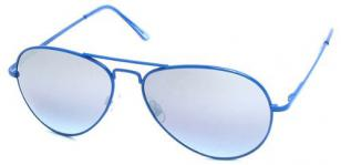 Blue frame aviator sunglasses