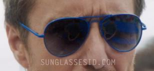 Sam Rockwell wears blue aviator sunglasses in The Way Way Back