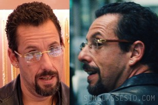 Adam Sandler wears Cartier Cartier C Décor Rimless eyeglasses in Uncut Gems.