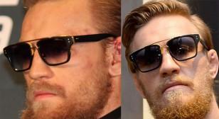 Conor McGregor wears Dita Mach Three during several press conferences.