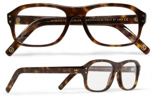 Cutler and Gross tortoiseshell acetate square-frame optical glasses