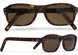 Cutler and Gross tortoiseshell acetate square-frame sunglasses