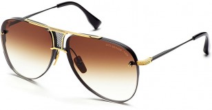 Dita Decade-Two, Black Yellow Gold, brown Gradient Lenses, DRX-2082