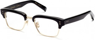 Dita Statesman eyeglasses, black and 12K gold
