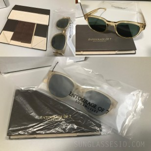 This is a pair of Entourage of 7 Beacon sunglasses in original packaging.