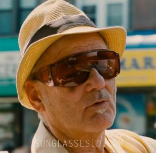 Bill Murray, cool as ever, with large shield sunglasses in St. Vincent.