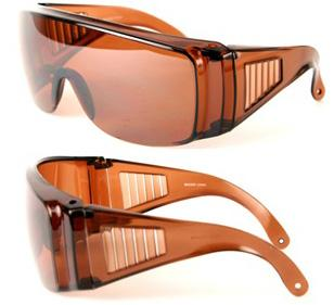 Fit over shield sunglasses