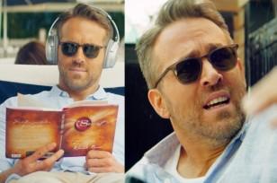 Ryan Reynolds wears Garrett Leight sunglasse, reads The Secret while using Bose Headphones