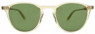 Garrett Leight Hampton 46 Champagne frame, Pure Green lenses