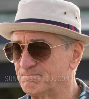 Robert De Niro wears Loree Rodkin Ashton aviator sunglasses in Dirty Grandpa
