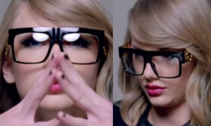 Taylor Swift wears Black 'Gold Chain' glasses