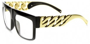 Black 'Gold Chain' glasses
