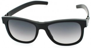 ic! berlin Fahrlehrer Klaus black rough with black gradient lenses, A0564002804804311sf