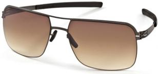 ic! berlin kjell, gun metal frame, brown/sand lenses