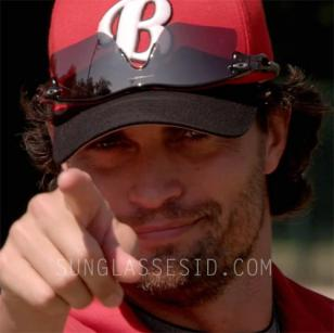 Scott Elrod wearing Oakley Radar sunglasses in the movie Home Run