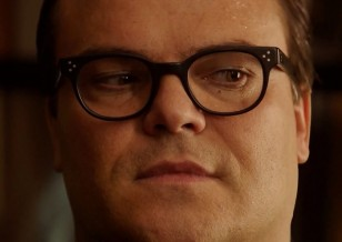 Jack Black wears Oliver Peoples Afton RX eyeglasses in Goosebumps.