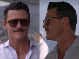 Luke Evans wears Persol 0649 sunglasses in Murder Mystery.