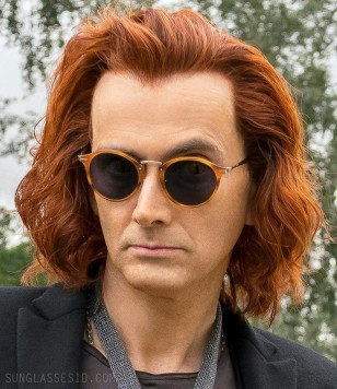 David Tennant wears Persol PO3166S sunglasses in the Amazon and BBC series Good Omens.