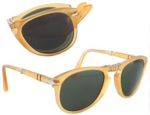 Persol PO0714 Folding Sunglasses - Color: Sand with Smoke lenses (color code 204