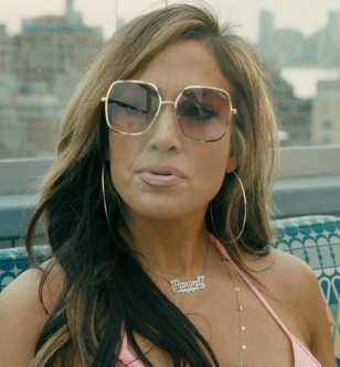 Jennifer Lopez wears Quay Undercover sunglasses in the 2019 surprise hit movie Hustlers.