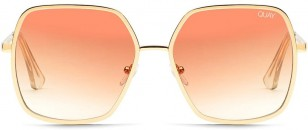 Quay Undercover wit gold frame and rose gradient lens