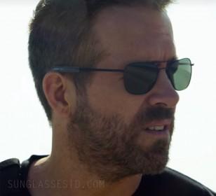 Ryan Reynolds wears black Randolph Engineering Aviator sunglasses in the Netflix film 6 Underground (2019).