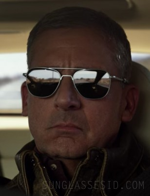 Steve Carell wears Randolph Engineering Aviator sunglasses in the Netflix series Space Force, season one, episode one.