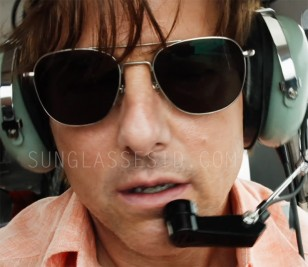 Tom Cruise wears Randolph Engineering Aviator sunglasses in American Made.