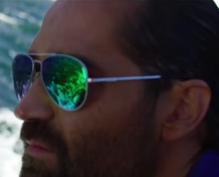 Manuel Garcia-Rulfo wears Randolph Engineering Concorde sunglasses in the Netflix film 6 Underground.